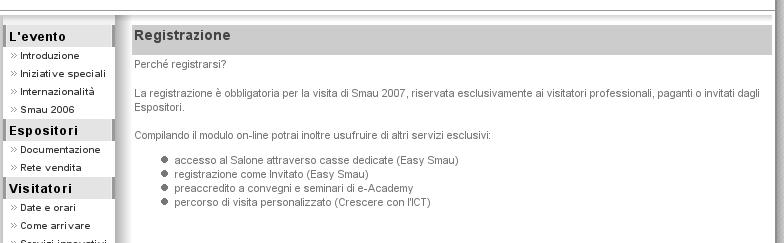 Smau - preregistrazione obbligatoria