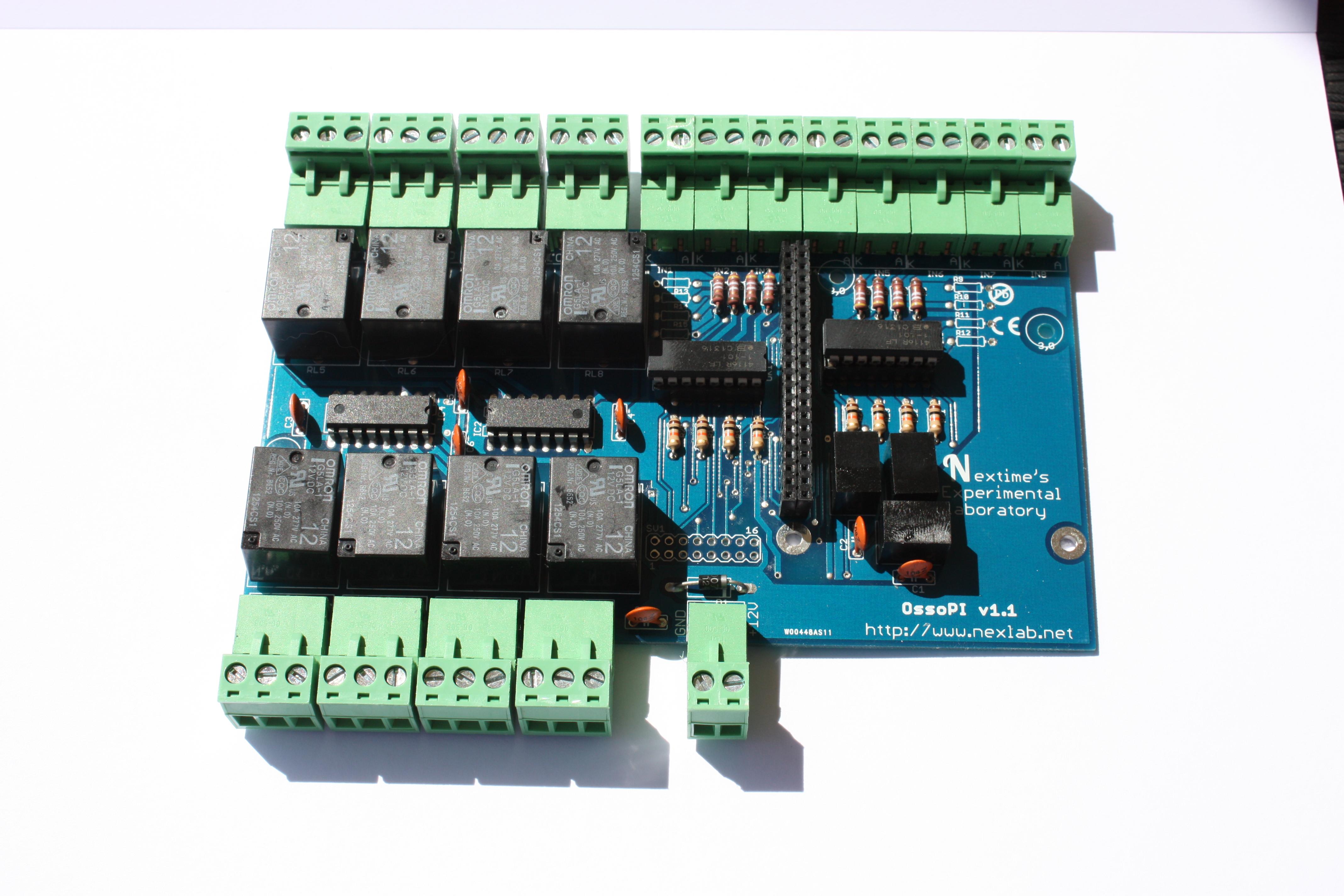 OssoPI Raspberry PI (1 B+ or 2) I/O expansion board